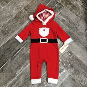 NWT Cat & Jack boys' 3 - 6 month Santa Claus suit